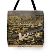 Maps Birds Eye View Of The Seat Of War Around Richmond Showing The Battle Of Chickahominy River Tote Bag