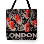 Maps From London Town Tote Bag