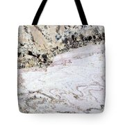 Marble Black Tan Pink Tote Bag