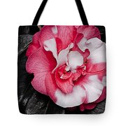 Marble Camellia Tote Bag