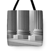 Marble Pillars Building Detail. 3d Illustration Tote Bag