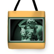 Marble Statue Catus 1 No. 2 H B With Decorative Ornate Printed Frame. Tote Bag