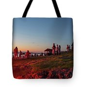 Marblehead Harbor Illumination 2017 Chandler Hovey Lights Lighthouse Tote Bag