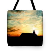 March Church Sunset  Tote Bag