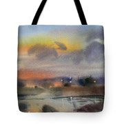 March Evening On The River Tote Bag