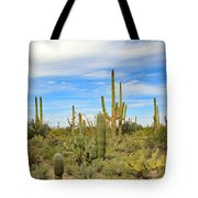 March Flowers And Cactus Tote Bag