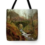 March Morning Tote Bag by John Atkinson Grimshaw