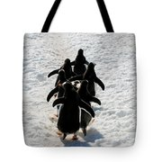 March Of Penguins Tote Bag