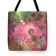 March Of The Spoonbills Tote Bag