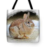March Rabbit With Vignette Tote Bag