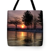 March Sunrise At Detroit Point Tote Bag