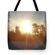 March Sunrise Circle Tote Bag