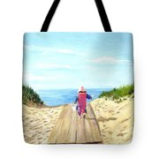 March To The Beach Tote Bag