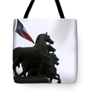 Marching Horses Tote Bag