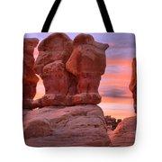 Marching Men Sunset Tote Bag