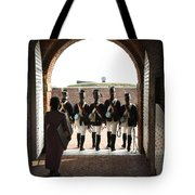 Marching Off On Detail At Fort Mchenry Tote Bag