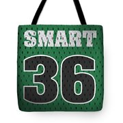 Marcus Smart Boston Celtics Number 36 Retro Vintage Jersey Closeup Graphic Design Tote Bag
