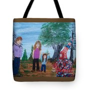 Mardi Gras Beggar And The Children Tote Bag