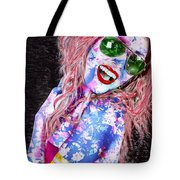 Mardi Gras Lady Tote Bag