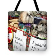 Mardi Gras Pekingese Pups Tote Bag by Kathleen K Parker