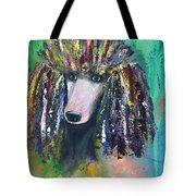 Mardi Gras Poodle Tote Bag