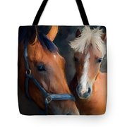Mare And Foal Tote Bag