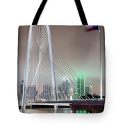 Margaret Hunt Hill Bridge Flag Tote Bag