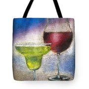 Margarita And A Glass Of Wine Tote Bag