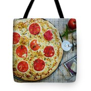 Margarita Pizza With Ingredients Tote Bag