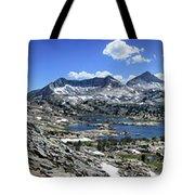 Marie Lake Panorama From High Above - John Muir Trail Tote Bag