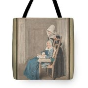 Marie Louise Petit At The Age Of 105, With Her Young Nurse Tote Bag