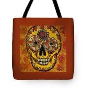 Marigold Skull Tote Bag
