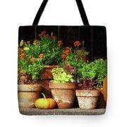 Marigolds And Pumpkins Tote Bag