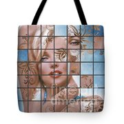 Marilyn 127 Tryp Tote Bag by Theo Danella