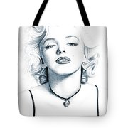 Marilyn Black And White Tote Bag