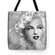 Marilyn Danella Ice Bw Tote Bag