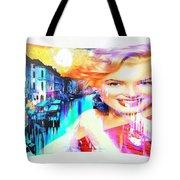 Marilyn In Italy Tote Bag