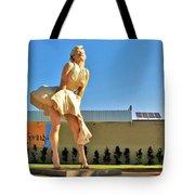 Marilyn In Palm Springs Tote Bag