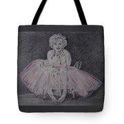 Marilyn In Pink Tote Bag