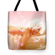 Marilyn M. In Bed Tote Bag