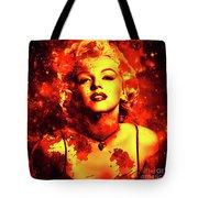 Marilyn Monroe   Golden  Tote Bag