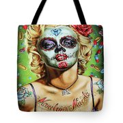 Marilyn Monroe Jfk Day Of The Dead  Tote Bag