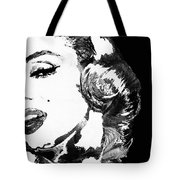 Marilyn Monroe Painting - Bombshell Black And White - By Sharon Cummings Tote Bag