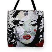 Marilyn Monroe Red Flower Tote Bag