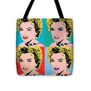 Marilyn Pop 4 Tote Bag