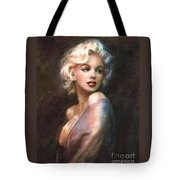 Marilyn Romantic Ww 1 Tote Bag by Theo Danella
