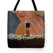 Marilyn With Chanel And Pearls Tote Bag