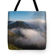 Marin Headlands Fog Rising - Sausalito Marin County California Tote Bag