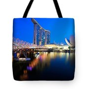 Marina Bay Sand Tote Bag by Yew Kwang