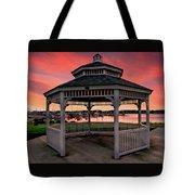 Marina Gazebo Sunset Tote Bag
